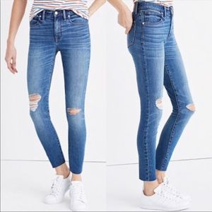 Madewell Hire-Rise Skinny Crop Jeans